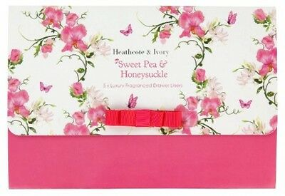 Heathcote and Ivory Sweet Pea And Honeysuckle Luxury Fragranced Drawer Liners,