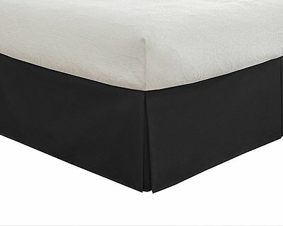 """Lux Hotel Bedding Tailored Bedskirt, Classic 14"""" drop length, Pleated Styling,"""