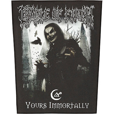 Cradle Of Filth Men's Yours Immortally Back Patch Black