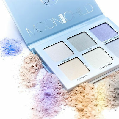 New Anastasia Beverly Hills Moonchild Glow Kit Palette Makeup Highlighter Brush