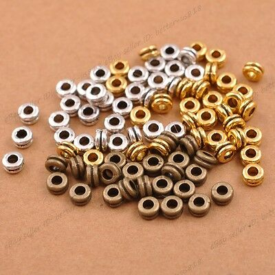 Tibetan Silver/Gold/Bronze Rings Spacer Beads Jewelry Findings 100Pcs 3037