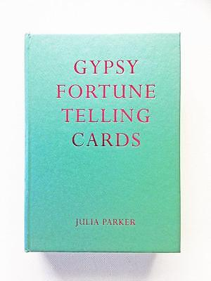 Gypsy Fortune Telling Cards By Julia Parker 2003 - 52 Card Deck And Book Set