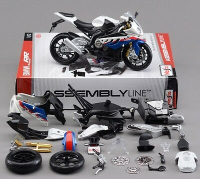 Maisto 1:12 BMW S1000RR Assembly line kit Motorcycle Bike Model Toy