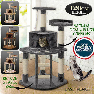 PaWz 1.2M Cat Scratching Post Tree Gym House Condo Furniture Scratcher