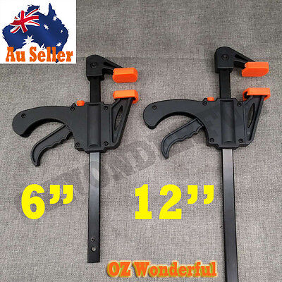 4'', 6'', 12'' Quick-Grip One Handed Bar Clamp F Clamp Hand Trigger Action Clamp