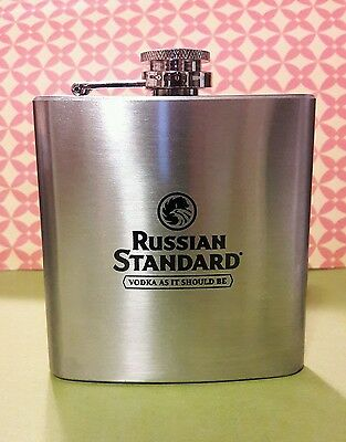 Russian Standard Vodka Flask 6 oz New Without Box  - Rare