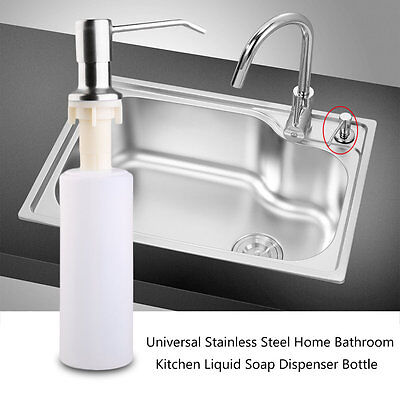 Universal Stainless Steel Home Bathroom Kitchen Liquid Soap Dispenser Bottle GT