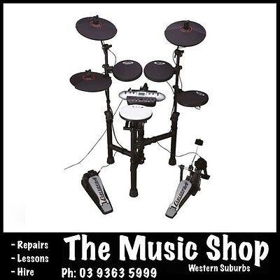 Carlsbro CSD130BK - 5 Piece Electronic Drum Kit w/ LCD Display Compact Drumkit