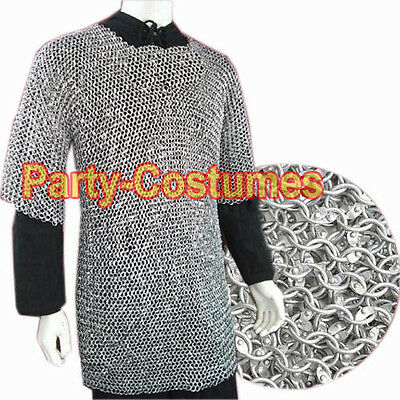Xxl Large Size Round Riveted Aluminum Chainmail Shirt / Chain Mail Shirt