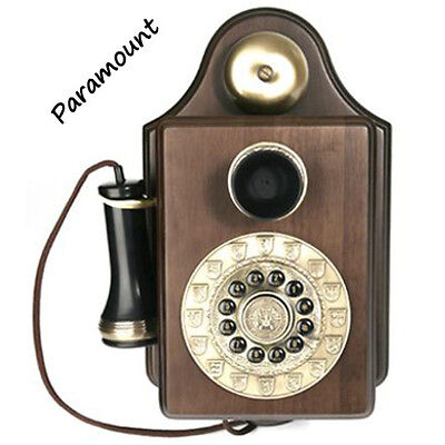 Paramount 1903 Antique Wall Phone Reproduction Functional Retro Old Fashioned
