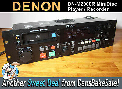 Denon DN-M2000R Single MiniDisc Player / Recorder - Tested - Works Great - NICE!