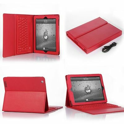 "For Apple iPad 2 3 4 9.7"" Stand Leather Case Cover with Bluetooth Keyboard USA"
