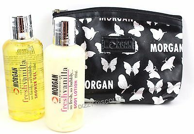 MORGAN 100ml Shower Gel + 100ml Body Lotion + Cosmetic Bag | FRESH VANILLA