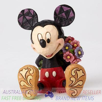 Jim Shore Disney Traditions Mini Figurine - Mickey Mouse with Flowers  figurine