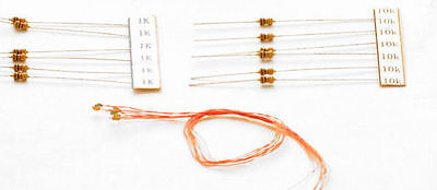 LED-NLAM DCC Concepts 0.8mm Nano LED Amber inc Resistor Selection - New In Pack