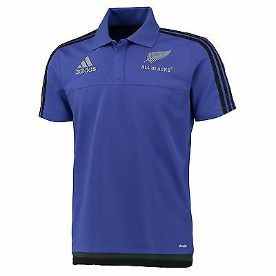 Adults Large All Blacks Rugby Polo Purple EB1A