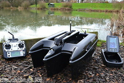 Black Widow Spyder Bait Boat + Toslon TF500 Fish Finder