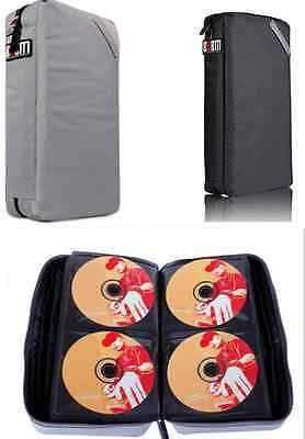 BUBM 64+8pc Large Capacity Portable CD DVD Case Holder Wallet Storage Carry Bag
