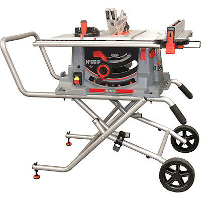 """King Canada Tools KC-5100C 10"""" JOBSITE SAW WITH FOLDING STAND Scie de Chantier"""