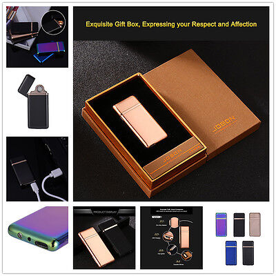JOBON Electric Windproof USB Rechargeable Dual Tungsten Cigarette Lighter GiftUK