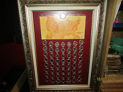 Framed United States Commemerative Quarter Collection  (With Territories) Nice