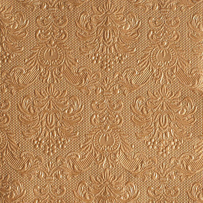 Ambiente 3 Ply Paper Lunch Napkins Serviettes Elegance Bronze Copper Embossed