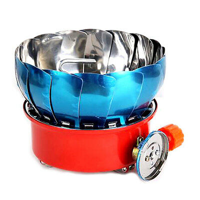 Portable Windproof Stove Cooker Cookware Gas Burner for Camping Picnic