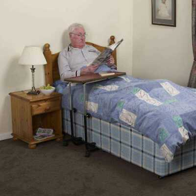 NRS Healthcare M01278 Overbed and Chair Table - Divan Style, Tilting & Adjustabl