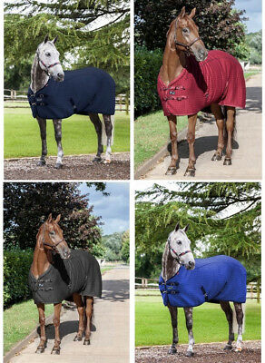 """LeMieux THERMO-COOL Carbon Thermatex Cooler RUG Blue/Black/Navy/Burg 5'0""""-6'9"""""""