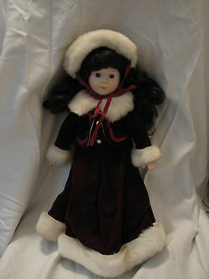 Genuine Porcelain Doll Adorable Memories Holiday Collection - Girl