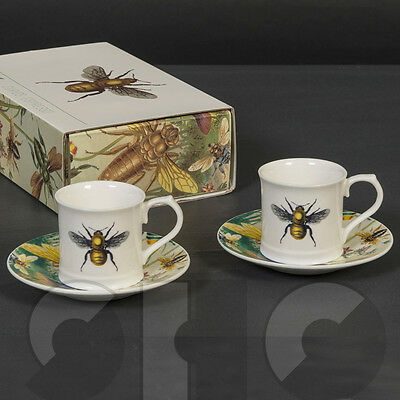Bees Espresso Set by MAGPIE in matching gift box - CURIOUS x2 cups with saucers
