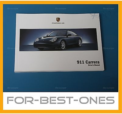 NEW Porsche 911 / 996 Carrera / Carrera S owners manual maintenance 2002 - 2006