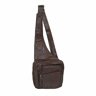 New CTM Leather Cross Body Messenger Bag