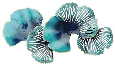 Abstract Metal Wall Art Turquoise Coral Reef Hanging Sculpture Home Garden 94 cm