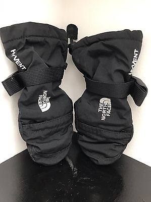 North Face Mittens Small Girls Black / Used Winter