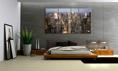 New York Towers Xxl Bilderset 4 Teile D00761 Digital Art Leinwand Bespannt
