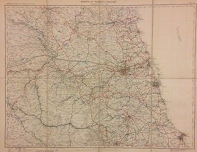 Large Antique Map Of Newcastle Upon Tyne And Surrounding Areas, 1923
