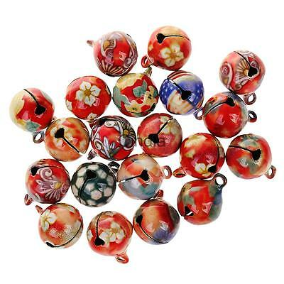 20pcs 16mm Colored Small Metal Xmas Jingle Bell for Craft Jewelry Pendants