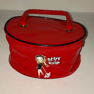 2004 Betty Boop Red Zippered Travel Cosmetic(?) Case