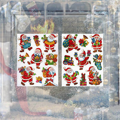 Christmas Window Stickers Durable PVC Self Adhesive Full of Santa For Children