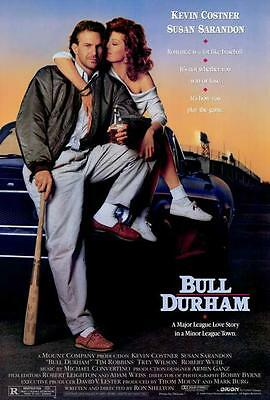 Bull Durham Movie POSTER 27 x 40, Kevin Costner, Susan Sarandon, A, LICENSED NEW