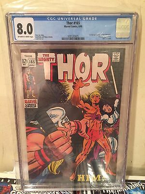 Thor #165 CGC 8.0 VF OW/ White Pages 1st Full Appearance Of Him / Adam Warlock