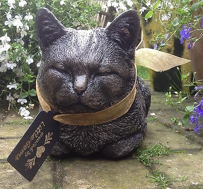 Cat Kitten Garden Ornament Home Lawn Statue Sculpture Gift Keepsake Remembrance