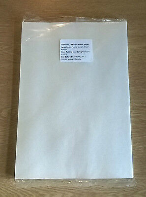 25 Sheets A4 High Quality Edible Wafer (Rice) Paper For Cake Toppers
