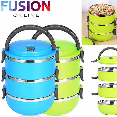 2.1L Lunch Box Bento Thermos Heated Food Container Portable Compact Food Warmer