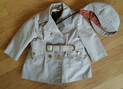 Vintage Toddler 2T Little Boy Jacket & Cap Solitaire 1940s 50's Suit Baby Beanie