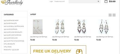 Jewellery Website And Stock Business For Sale+ Contact Supplied