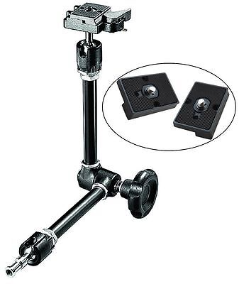 Manfrotto Magic Arm and Two Replacement Quick Release Plates for The RC2 Adapter