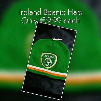 Ireland soccer football embroidered beanie hats