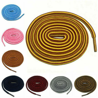 Round Shoelaces Stripped Shoe Laces Sneaker Sport Shoestrings Ropes 120 - 160cm